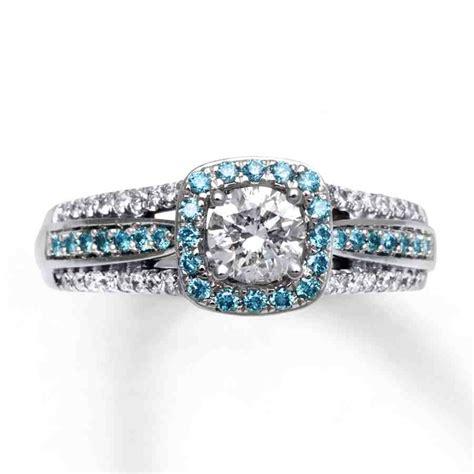 light blue ring light blue engagement rings wedding and bridal