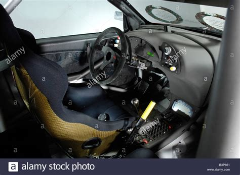 citroen xsara wrc rally car interior stock photo