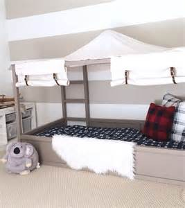 Ikea Housse Canapé Beddinge by Ikea Kura Bed Hack Diy Boy Canopy Bed Harlow Thistle