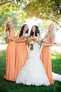 chagne color bridesmaid dress orange wedding orange wedding theme 2066323 weddbook