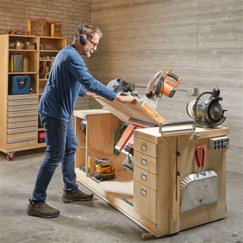build  space saving flip top workbench diy