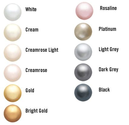 pearl colors swarovski color charts customize your bridal