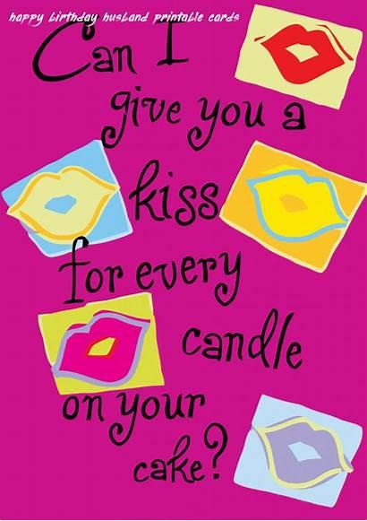 Husband Birthday Printable Cards Happy Romantic Card