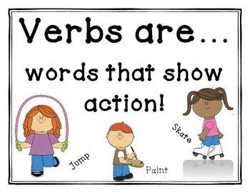verb anchor chart  beth vaughn teachers pay teachers