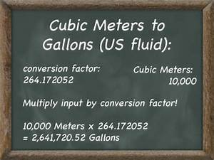 Cubic Meter Conversion Chart Convert Cubic Meters To Gallons Kyle 39 S Converter