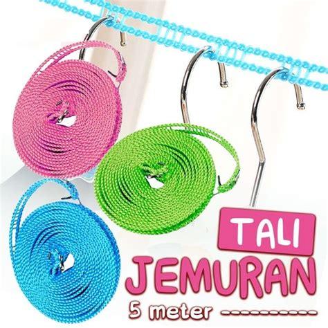 Tali Jemuran 5 Meter Portable tali jemuran pakaian gantungan baju panjang 5 meter