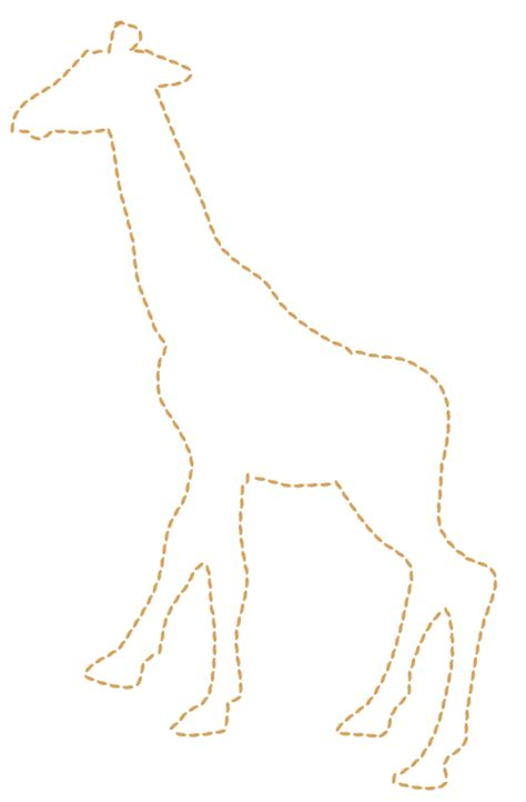animal head outline giraff   clip art