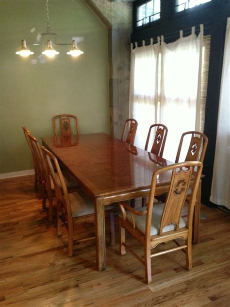 thomasville dining table   chairs   leaves ebay