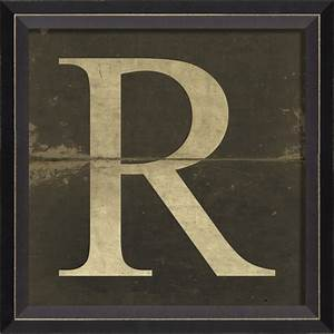 alphabet letter r framed wall art by spicher and company With framed letters for wall
