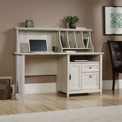 sauder edge water desk with hutch edge water computer desk with hutch 419088 sauder