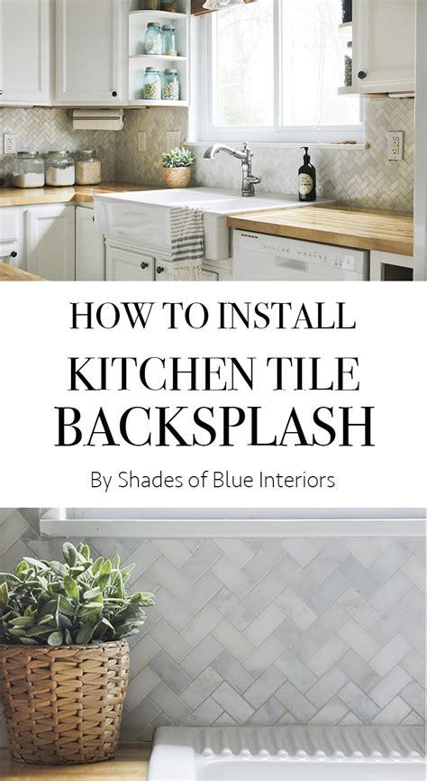 how to install backsplash kitchen how to install kitchen tile backsplash shades of blue