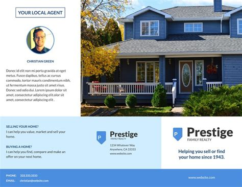 property pamphlet free tri fold brochure templates examples 15 free