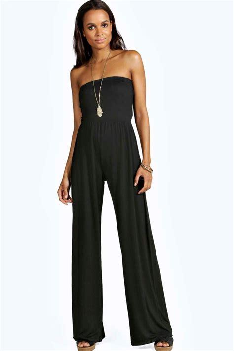 ebay jumpsuit boohoo womens meg wide leg bandeau jumpsuit