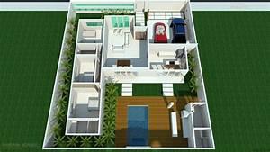 Planta Casa Simples Garagem Barbara Borges Projetos