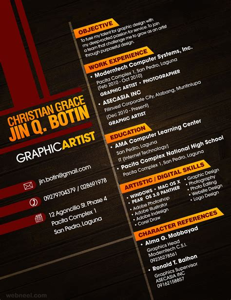 Creative Graphic Artist Resume by Creative Cv Design 25