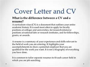 Vari job hunting 101 for postdoctoral fellows for What is the difference between cv and cover letter