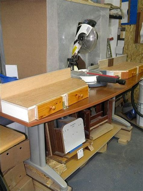 sliding compound miter  station plans woodworking