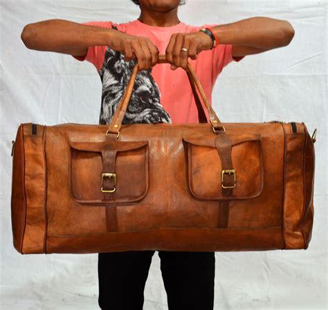Brown Leather Travel Bag Purse 39 S Brown Genuine Vintage Leather Goathide Travel