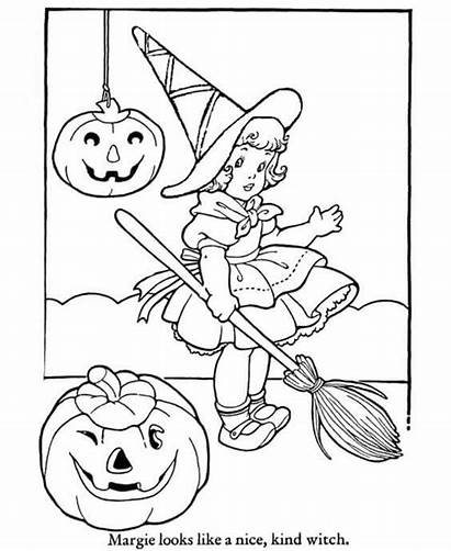 Coloring Halloween Pages Witch Scribblefun Margie
