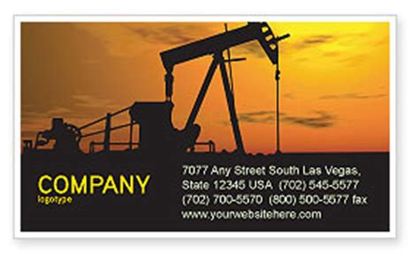 and gas business card templates producer business card template layout