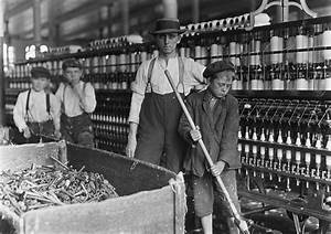 Industrial Revolution. Children working in a cotton mill ...