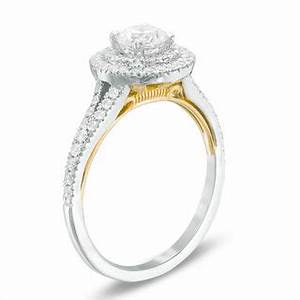 1 ct tw diamond split shank engagement ring in 14k two With gordon jewelers wedding rings