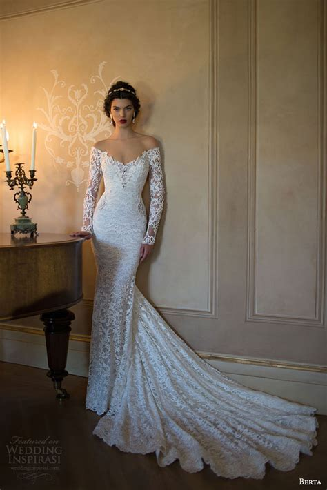 berta  bridal collection long sleeve wedding dresses