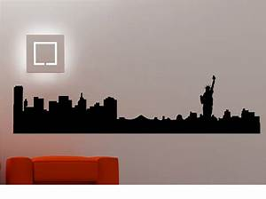 New York City Skyline Wall Stickers / Wall Decals Vinyl ...