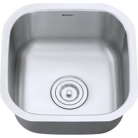 stainless steel sink gauge 16 vs 18 stainless steel sink gauge ruvati rvm4138 bar prep sink