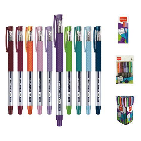 Lodīšu pildspalva NATARAJ GRIPPO JOI 0.7mm, 10 krāsu ...