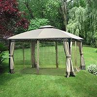 excellent patio tent with net Garden Winds Replacement Canopy and Netting Set for Windsor Dome Gazebo - Riplock 350 - Gazebos ...