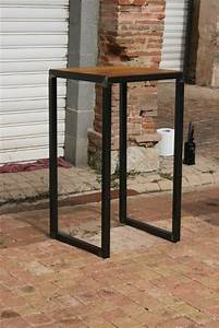 stunning table mange debout design industriel with comment
