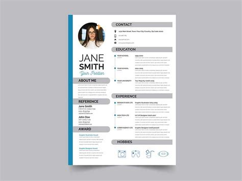 Great Cv Templates Free by 20 Best Resume Template Psd Free Graphicslot