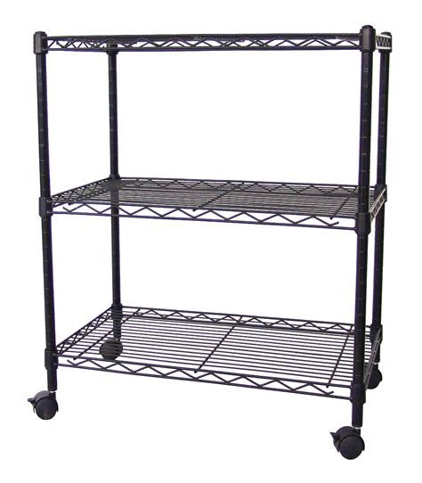 Excel Nsf Multi Purpose 3 Tier Wire Shelving Unit With