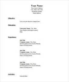 job resume exles pdf free 40 blank resume templates free sles exles format download free premium templates