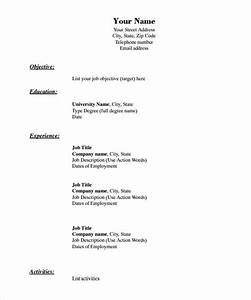 46 blank resume templates doc pdf free premium for Blank resume outline