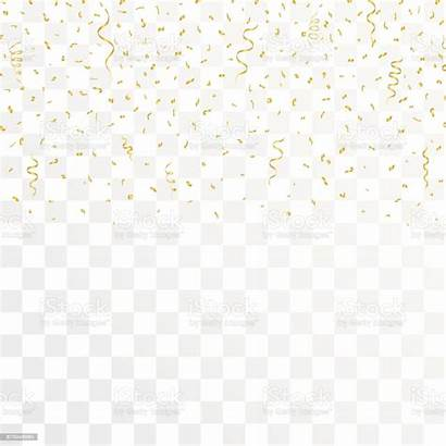 Confetti Background Gold Transparent Golden Vector Ribbons