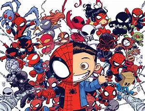 Skottie Young dual-issue Spider-Verse variant cover