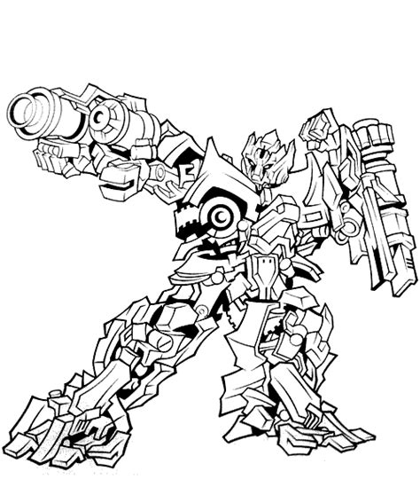 Transformer Free Colouring Pages