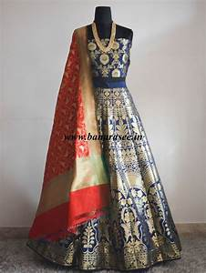 Banarasi Saree Latest Design Banarasi Handwoven Art Silk Unstitched Lehenga Blouse