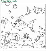 Coloring Reading Grade Books Fish Wordzila Pages Under sketch template