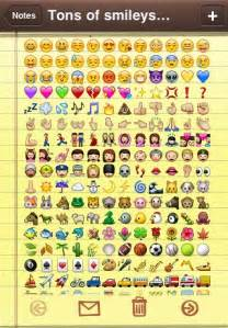 iPhone Text Message Symbols Emoticons
