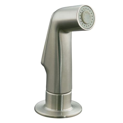Kitchen Faucet Side Spray Parts by Pull Out Side Spray Replacement Part Brushed Nickel Kohler