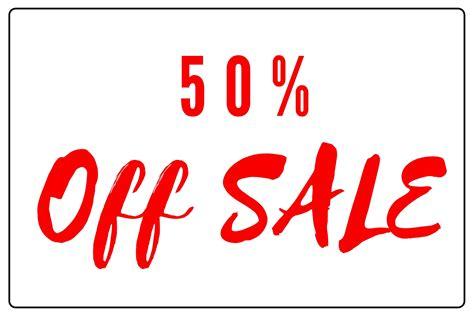 50 Percent off sale Sign Printable & Images Download
