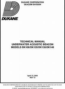 Dukane Dk120 Dk100series13seperate User Manual To The