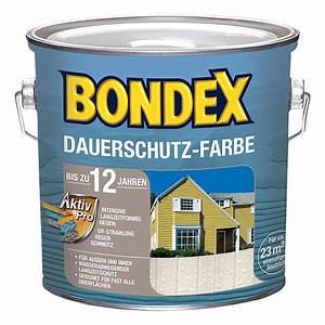 Holz Farbe Sprühen Statt Streichen : bondex dauerschutzfarbe wei 2 5 l bauhaus ~ Eleganceandgraceweddings.com Haus und Dekorationen