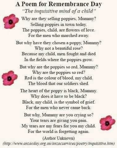 poppy poems for remembrance day remembrance day poem sword of truth