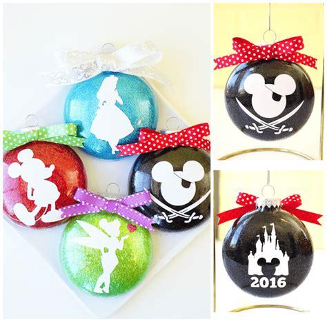 disney glitter christmas ornaments happiness  homemade