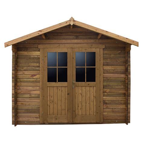 abri de jardin 9m 178 plus bois 40mm trait 233 teint 233 marron gardy shelter