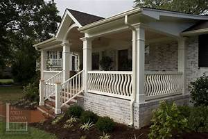 exterior exterior awesome white stacked stone base front With 4 creative porch railing ideas for your house